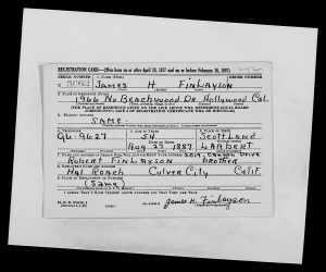 WW2 Draft Registration Card