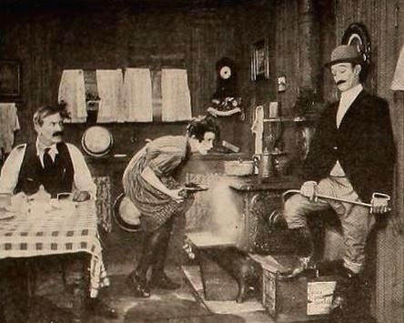 Still from DOWN ON THE FARM (1920) with Bert Roach, Louise Fazenda and James Finlayson
