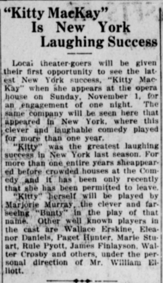 Bakersfield Californian, 28 Oct 1914, p. 7
