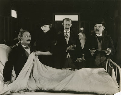 Still from MARRIED LIFE (1920) with Ben Turpin, Phyllis Haver, James Finlayson and Heine Conklin