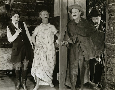 Still from WHERE'S MY WANDERING BOY THIS EVENING? (1923) with Madeline Hurlock, Ben Turpin, James Finlayson and Billy Armstrong