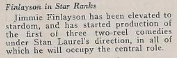 Finlayson in Star Ranks