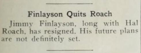 Finlayson Quits Roach